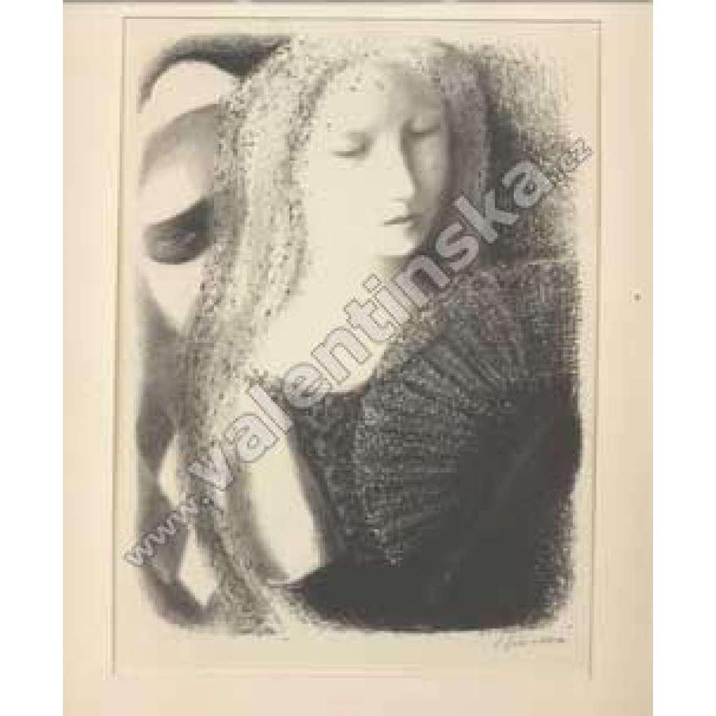 Dáma s vějířem-litografie (230x170)