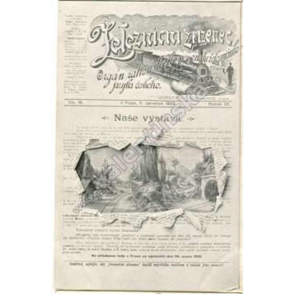 Železniční zřízenec (železnice, lokomotiva) Pohled s vyobrazením časopisu
