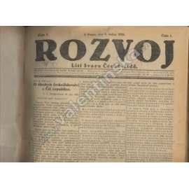 Rozvoj, 1922 - komplet.