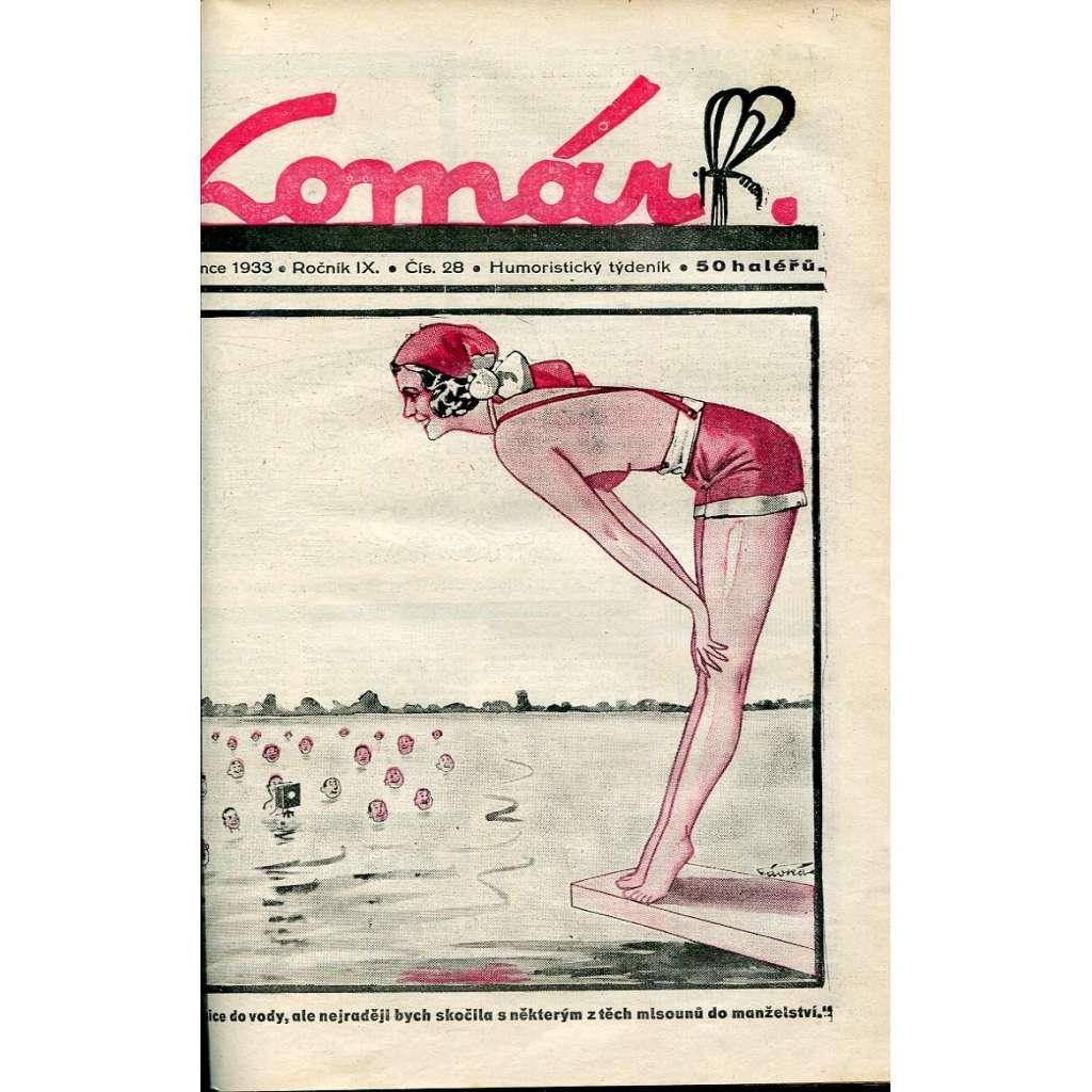 Komár – Humoristický týdeník, roč. 9 (1933)