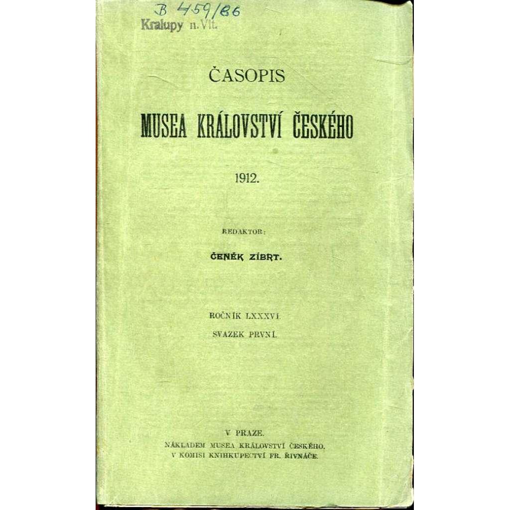 Časopis Musea království Českého, I./1912