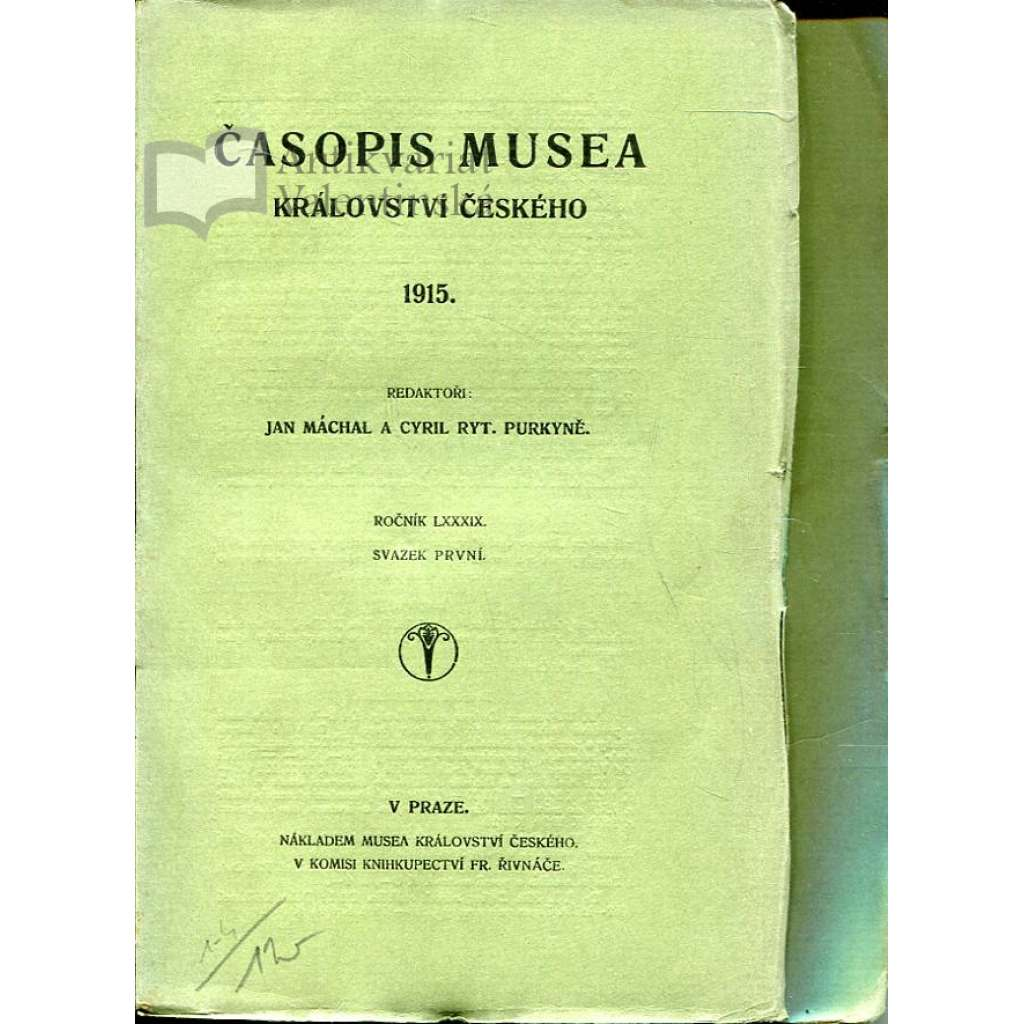 Časopis Musea království Českého, 1915