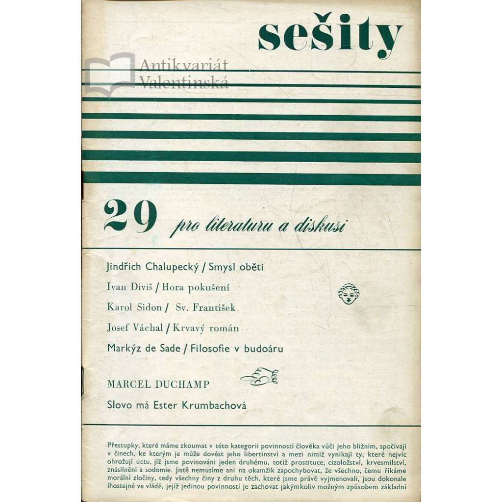 Sešity pro literaturu a diskusi 29/1969