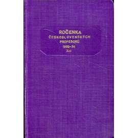 Ročenka čsl. profesorů, 1933-1934