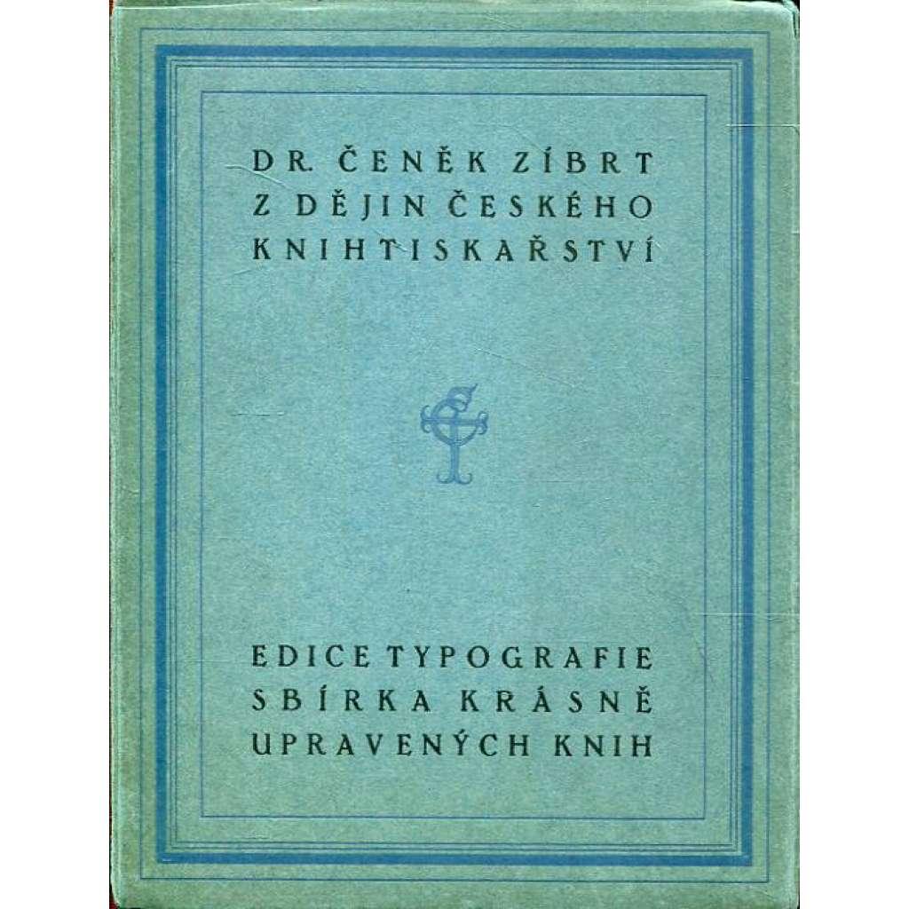 Z dějin českého knihtiskařství