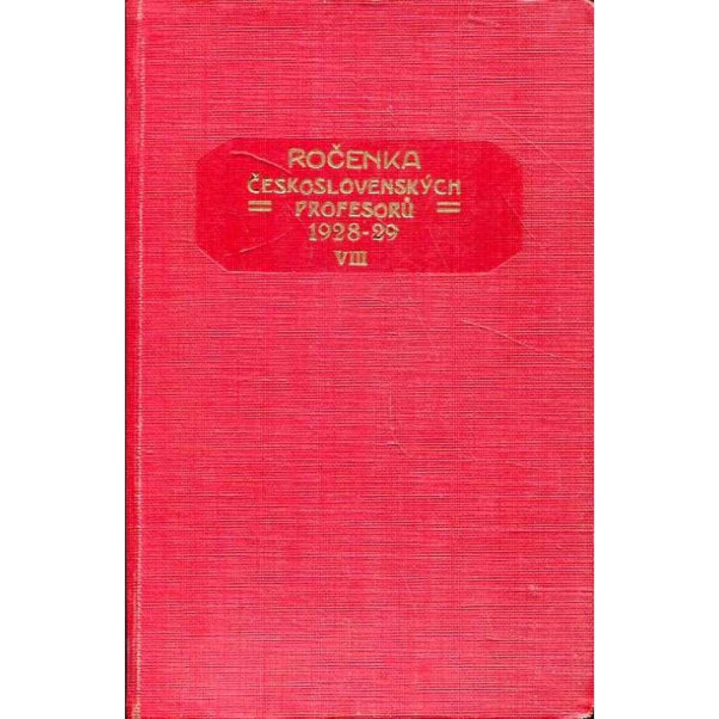 Ročenka čs. profesorů, 1928/29