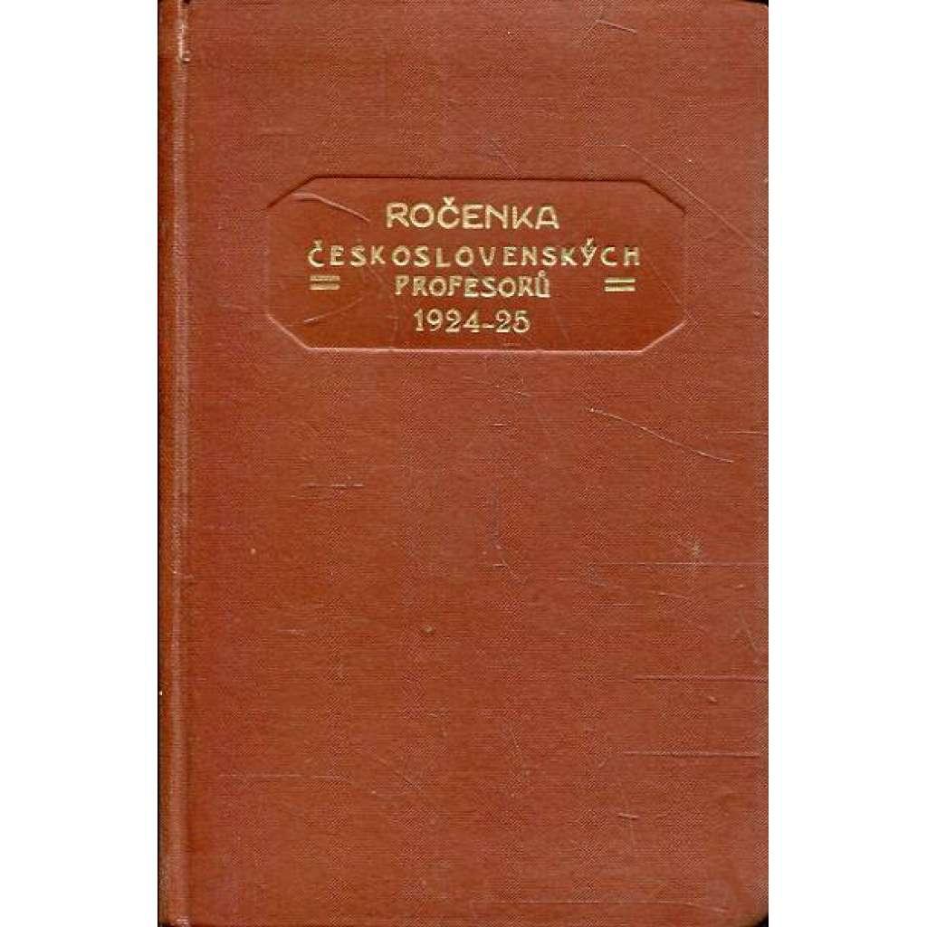 Ročenka čs. profesorů, 1927/28