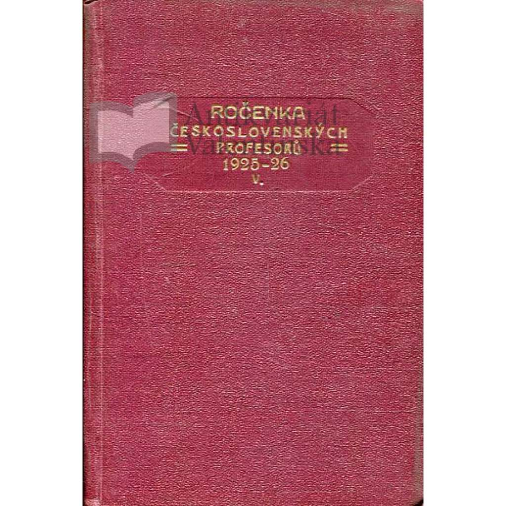 Ročenka čs. profesorů, 1925/26