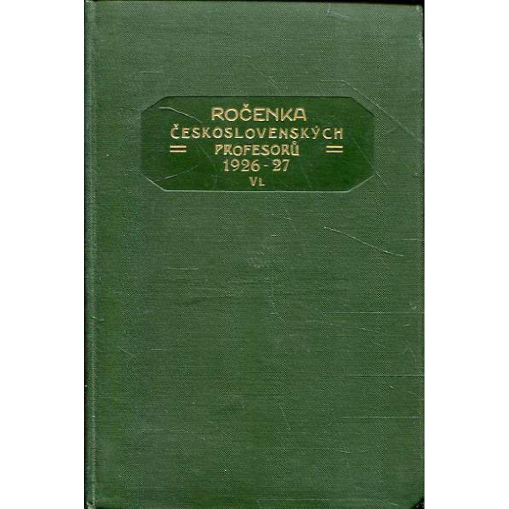 Ročenka čs. profesorů, 1926/27