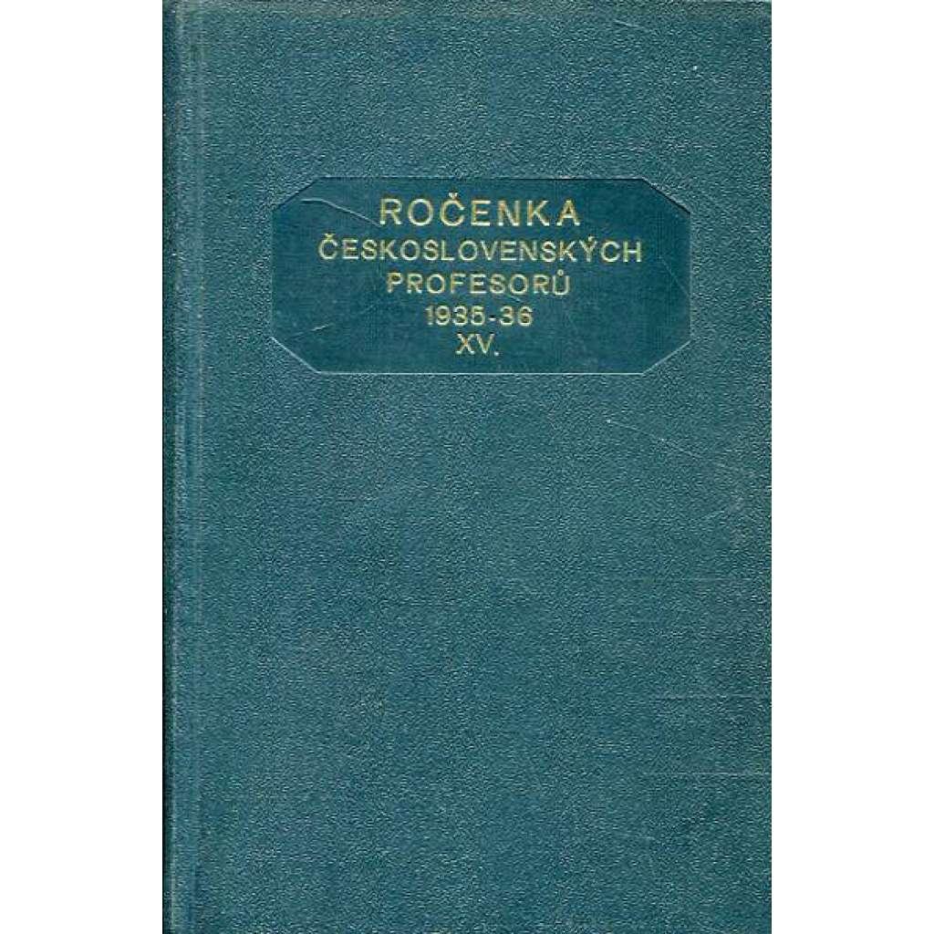 Ročenka čs. profesorů, 1935/36