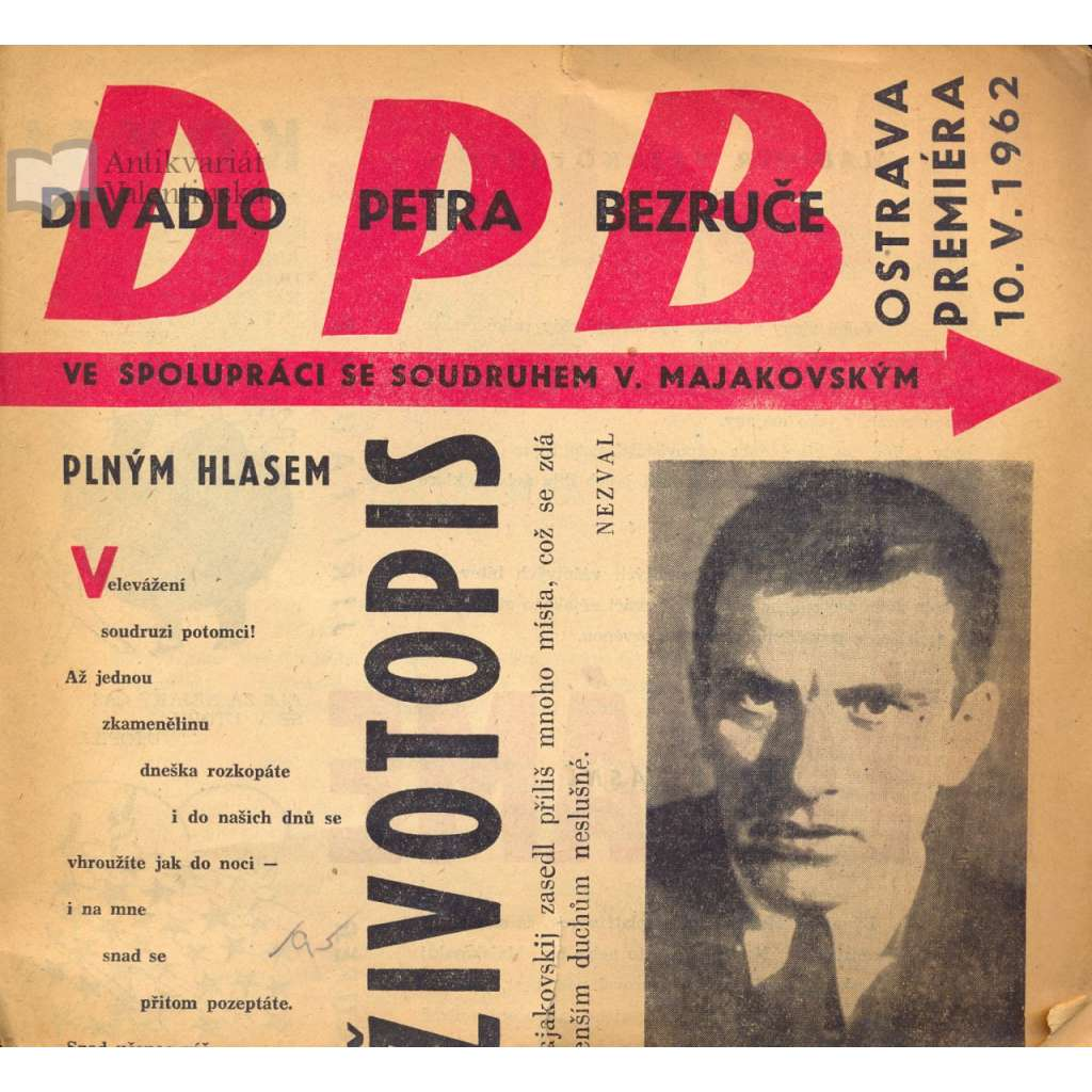 Program Divadla Petra Bezruče (V. Majakovskij)