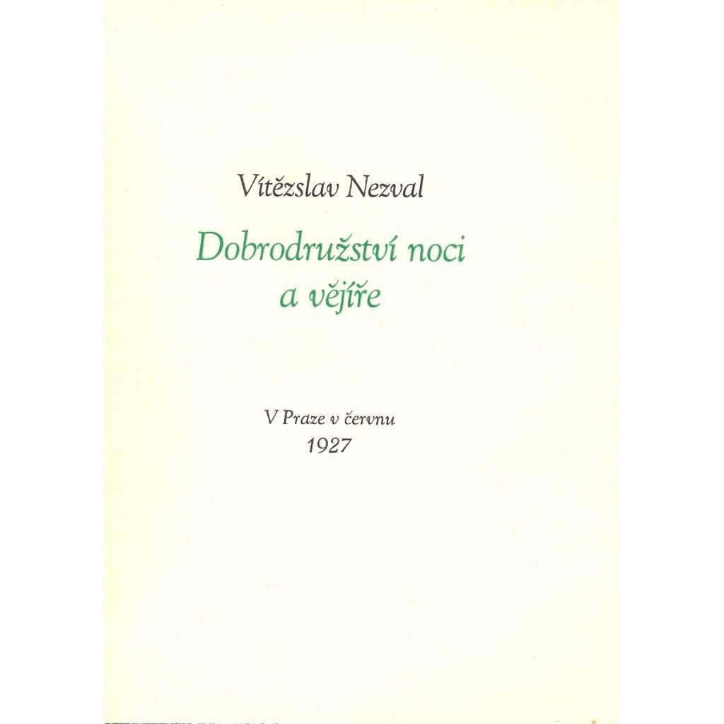 Dobrodružství noci a vějíře (ed. Viola)