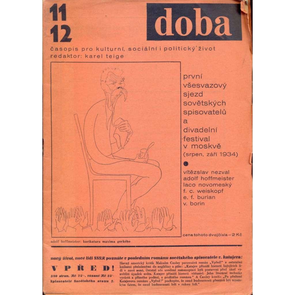 Doba (Časopis pro kulturní, sociální i politický život, č. 11-12 (1934)