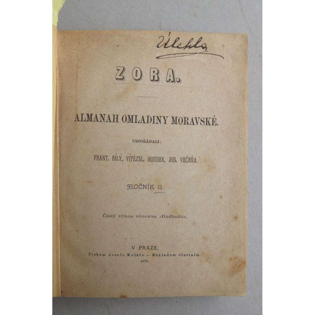 Zora II. Almanah omladiny moravské