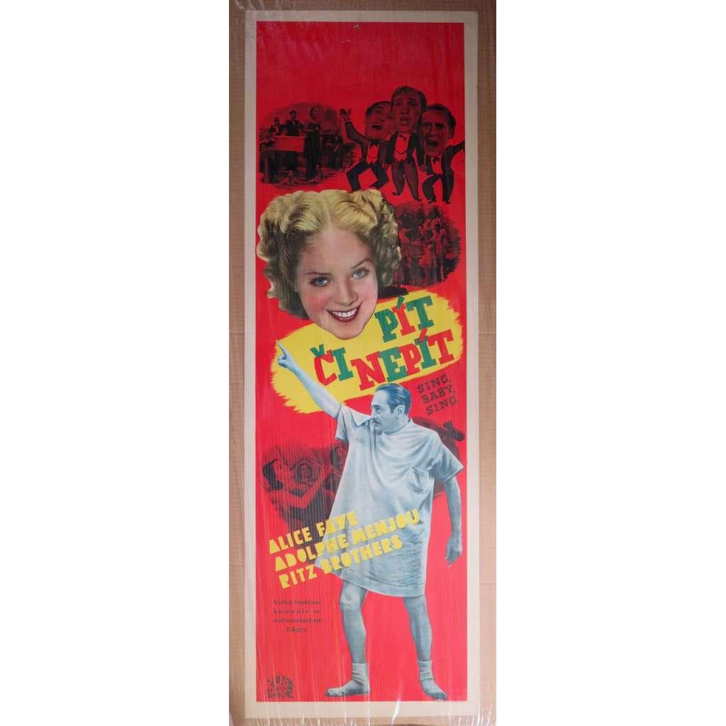 Sing, baby, sing (Pít či nepít) - film, filmový plakát