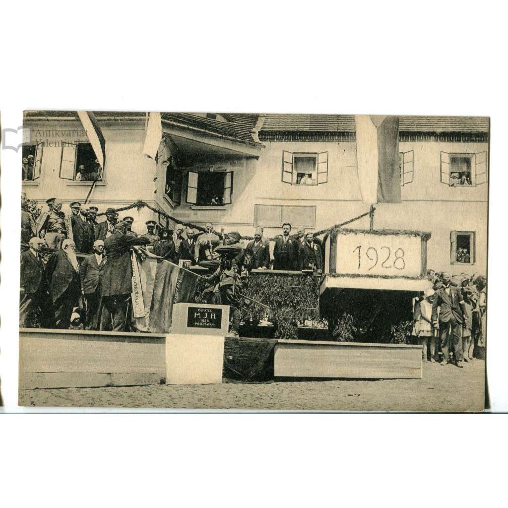 Husinec, Prachatice, Šumava, slavnost - položení základního kamene, pomník Mistr Jan Hus