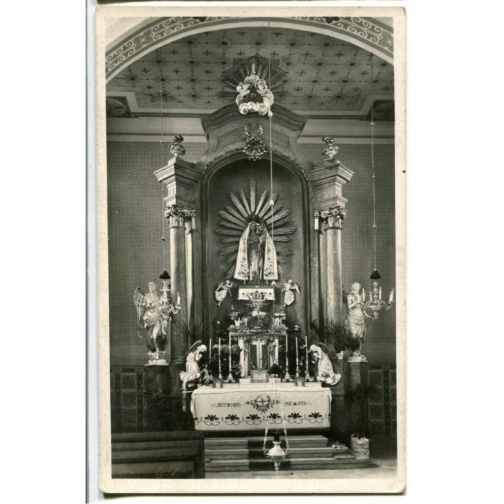 Žarošice, Hodonín, interiér kostela