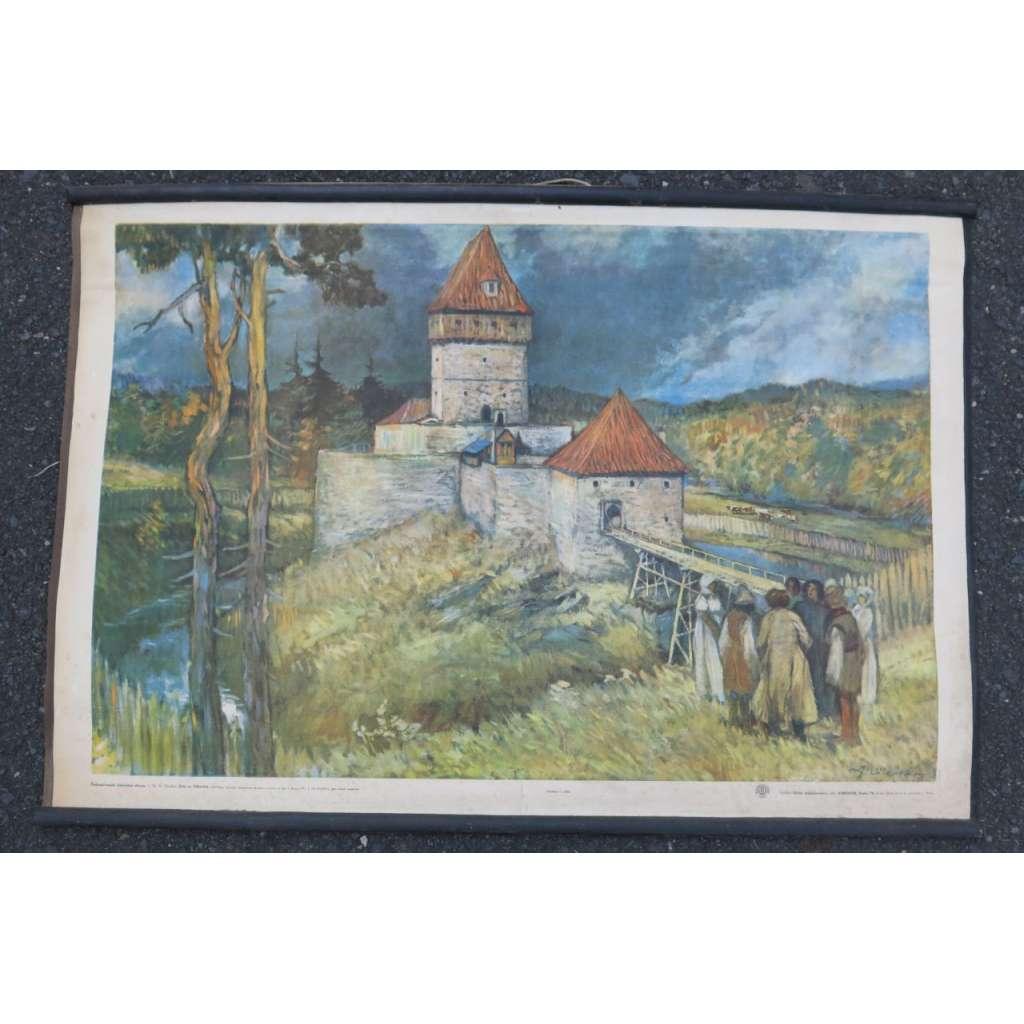 Kozí hrádek - Tábor - dějepis - školní plakát
