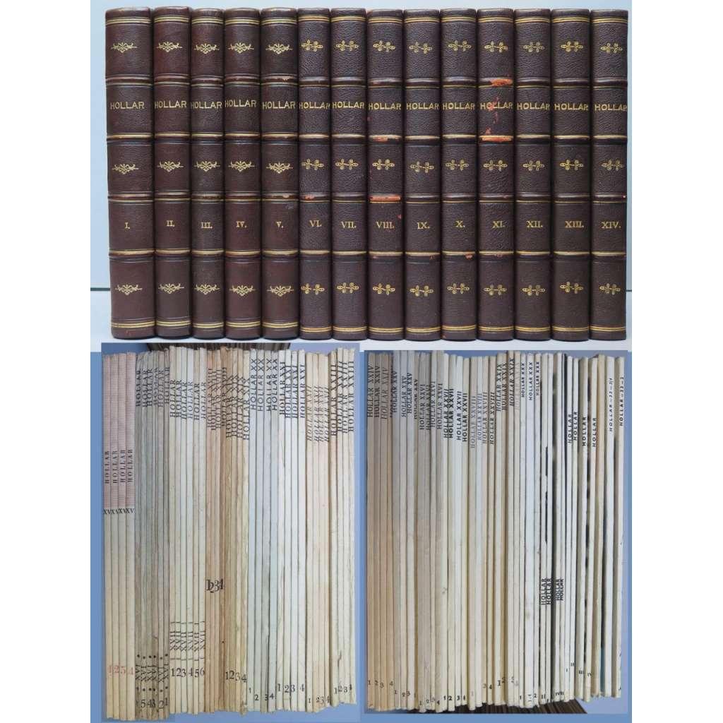 Hollar, sborník grafické práce, ročníky I-XXXIII (1923-1964) VAZBA KŮŽE - KOMPLET včetně PŘÍLOH