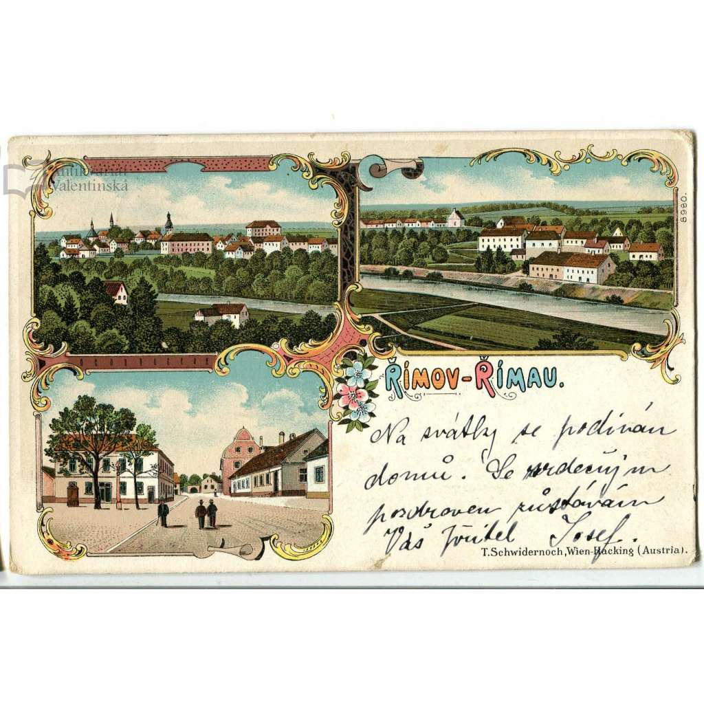 Římov, České Budějovice, litografie