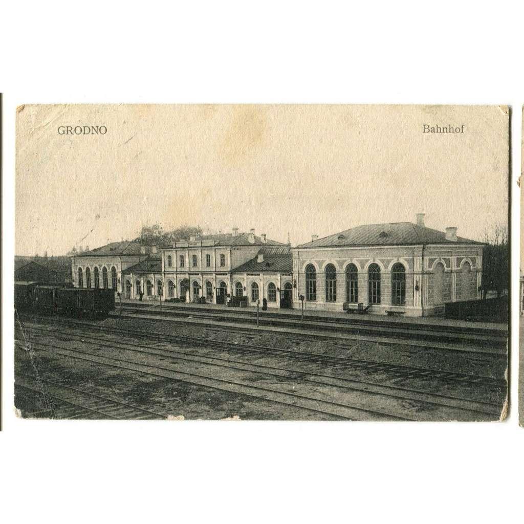 Grodno, Bělorusko, Belarus, Polsko, Bahnhof, nádraží, vokzal
