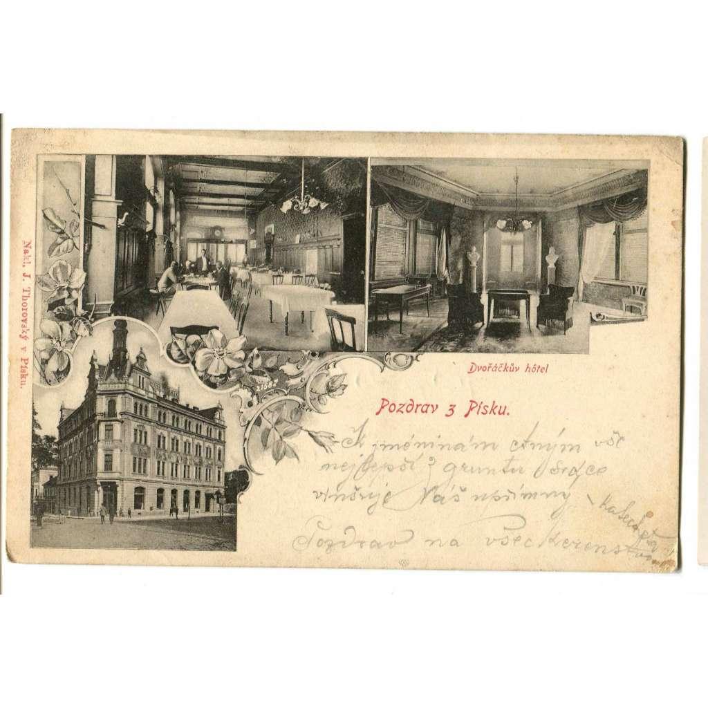 Písek, hotel Dvořáček, interiér restaurace