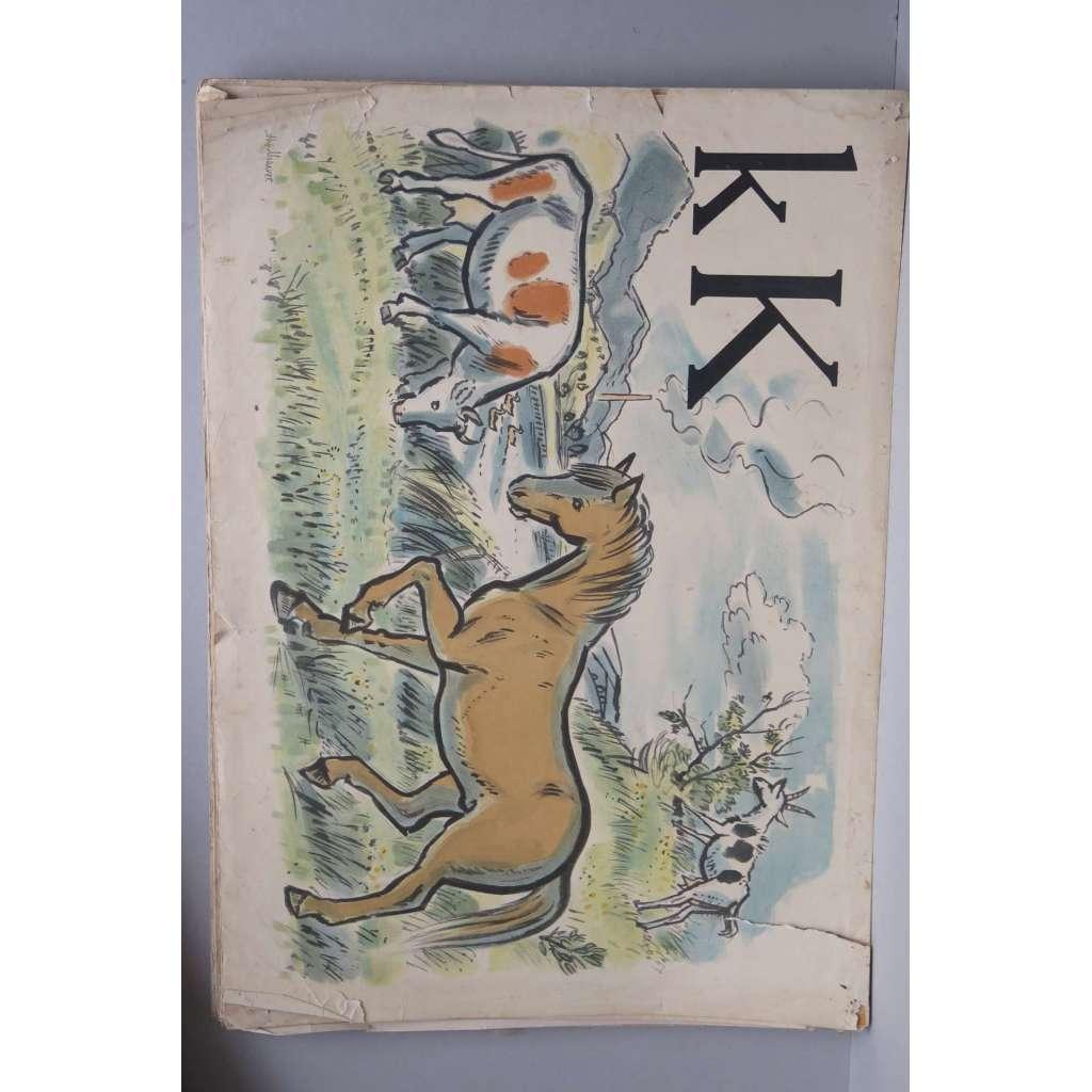 2e0955fc73 Živá abeceda - písmeno K - kůň - školní plakát
