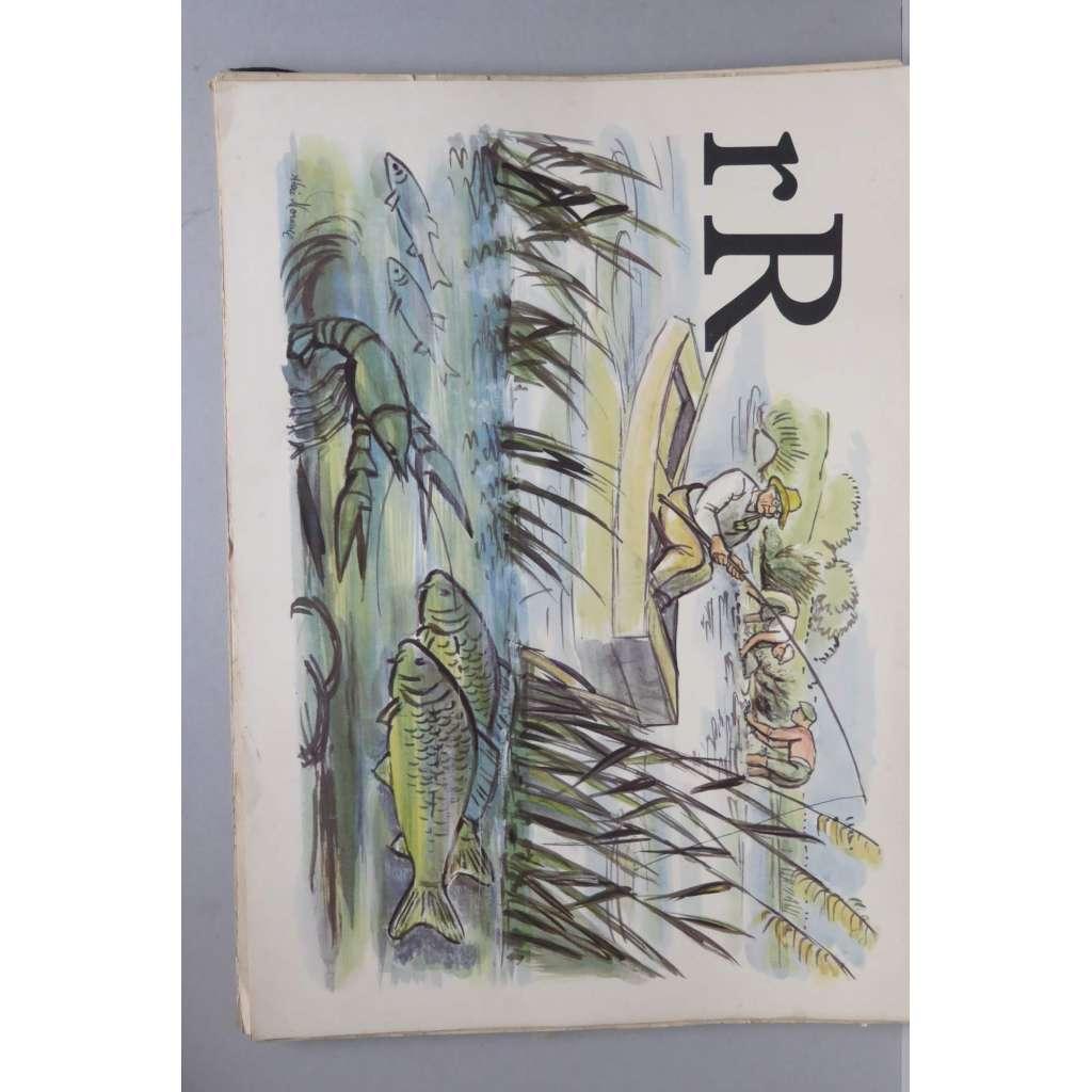 Živá abeceda - písmeno R - rybář - školní plakát