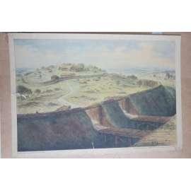 Staroslovanské hradiště - školní plakát