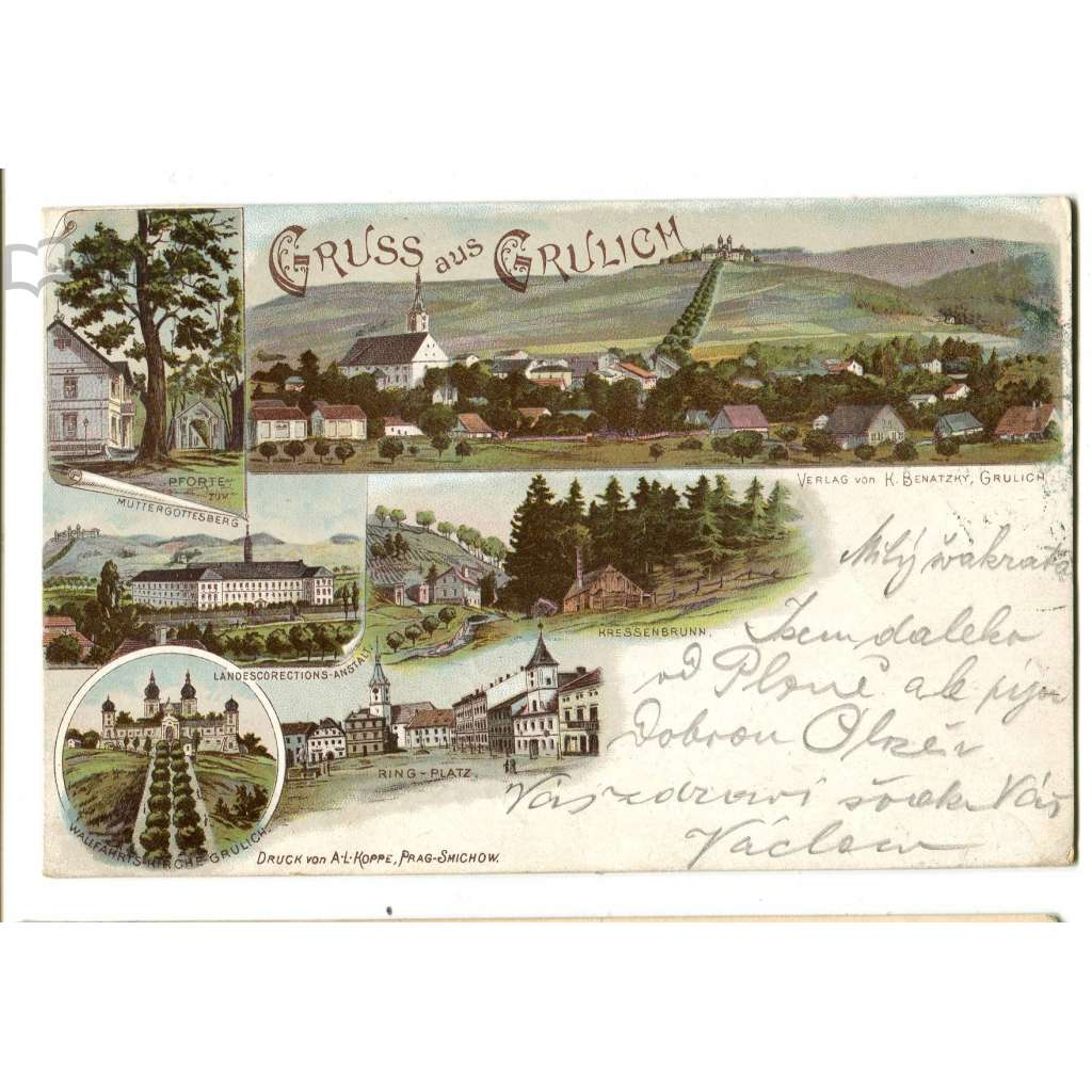 Králíky, Ústí nad Orlicí, litografie