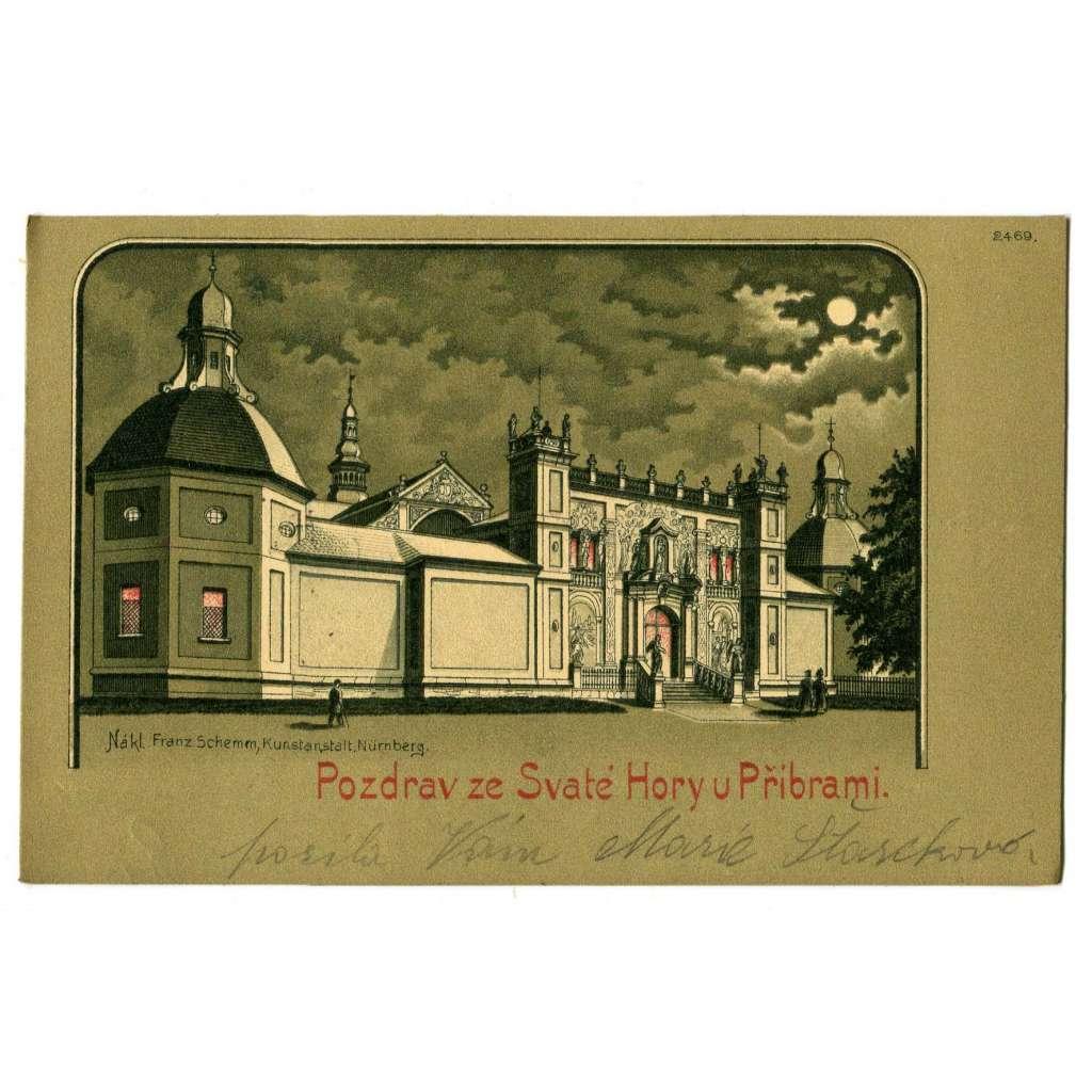 Svatá Hora, litografie, Příbram