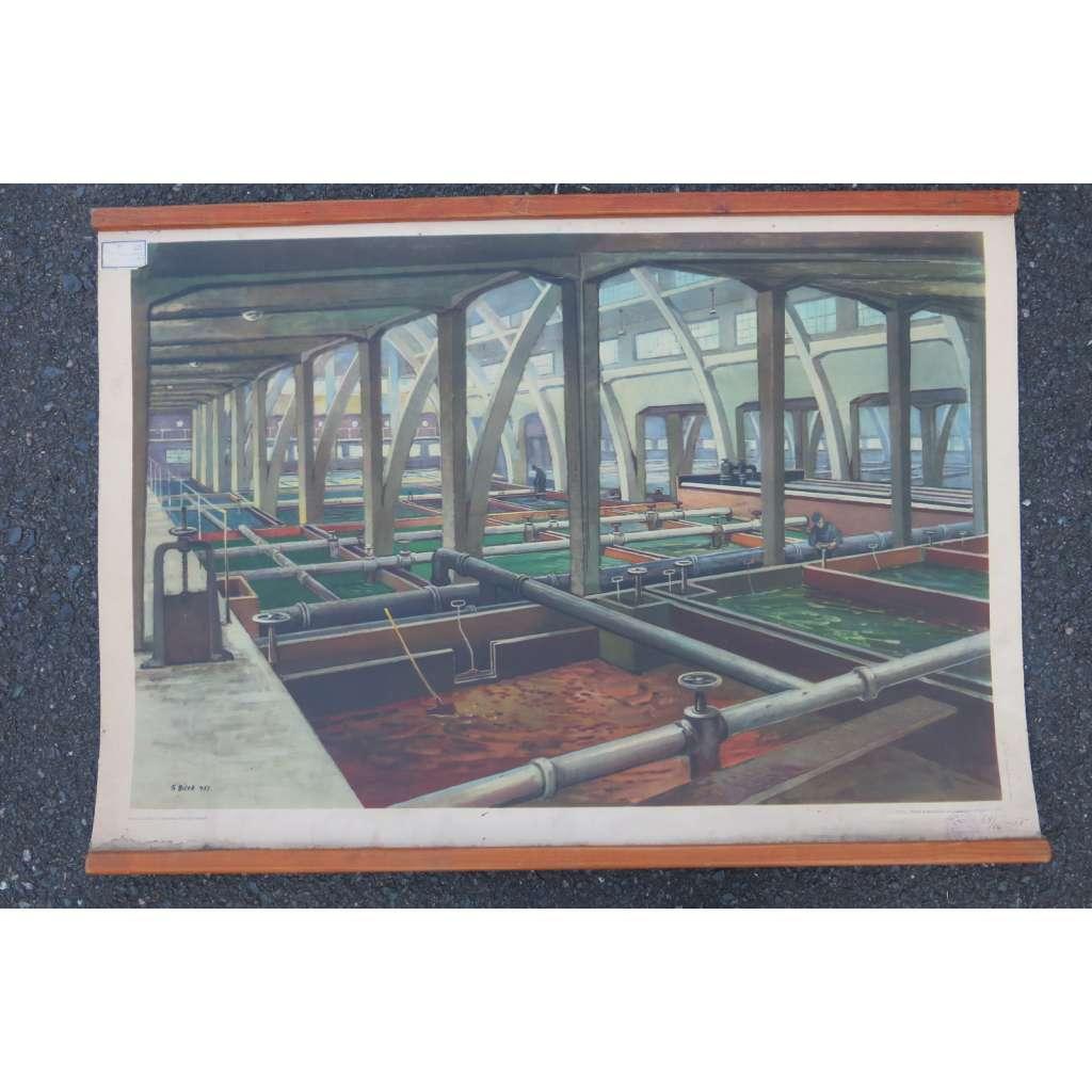 Vodárna – továrna - školní plakát