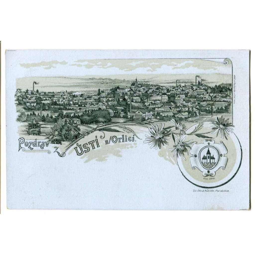 Ústí nad Orlicí, litografie