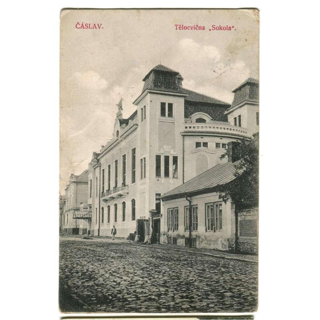 Čáslav, Kutná Hora, sokolovna, Sokol (pošk.)