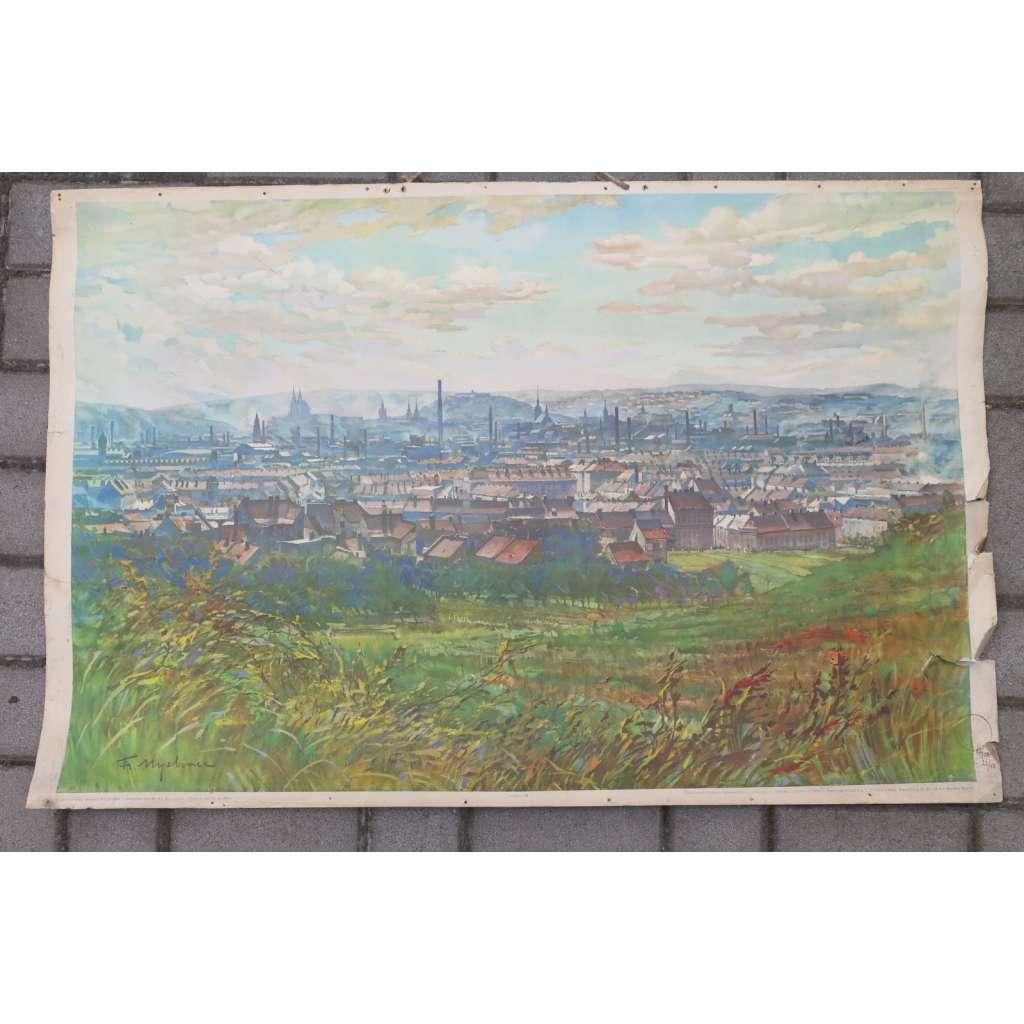 Celkový pohled na Brno - školní plakát