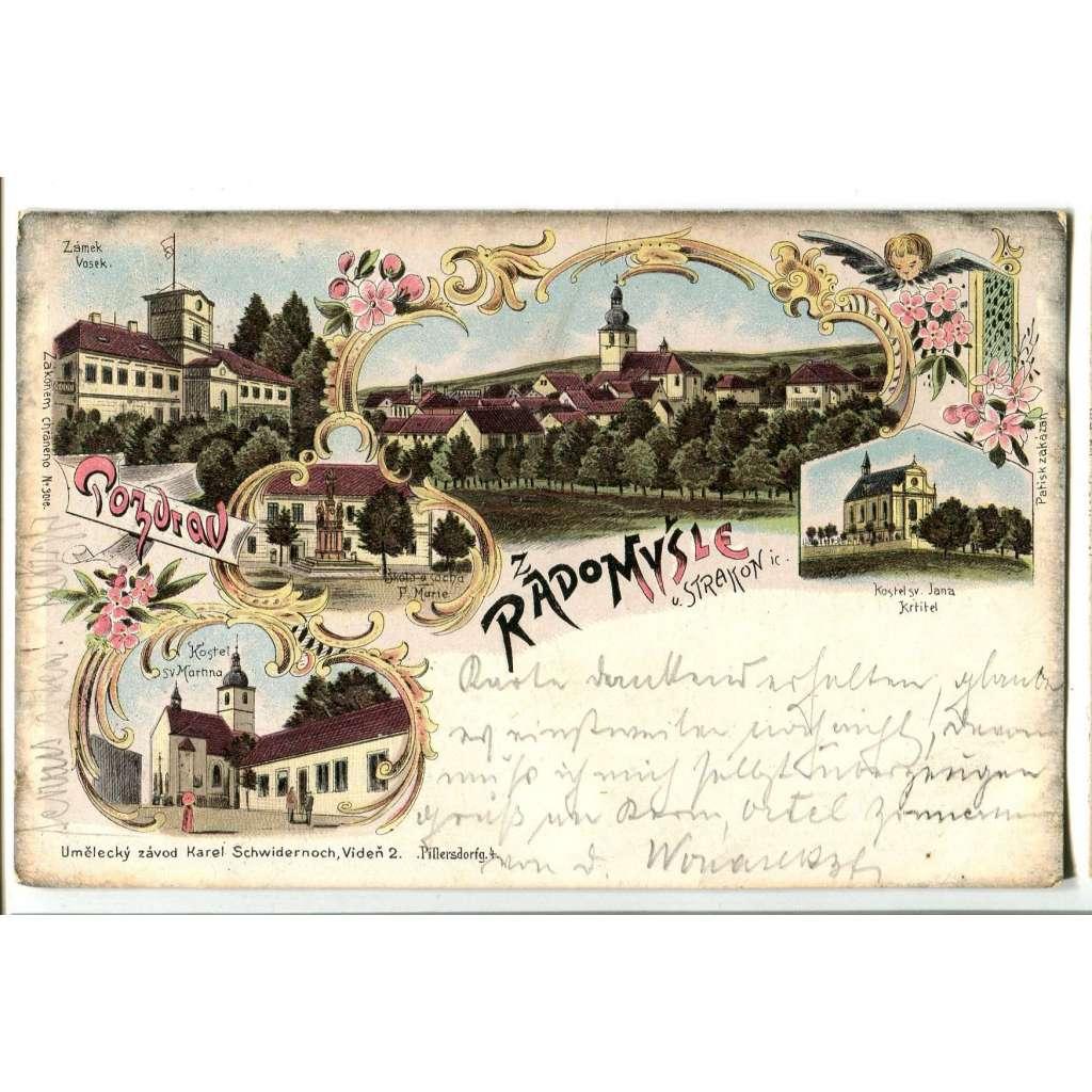 Radomyšl, Strakonice, litografie