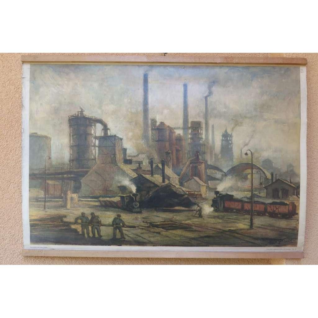 Hutě - továrna - fyzika - školní plakát