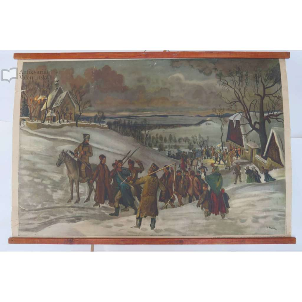 Vzbouření selského lidu před Rtyňskou rychtou - školní plakát (pošk.)