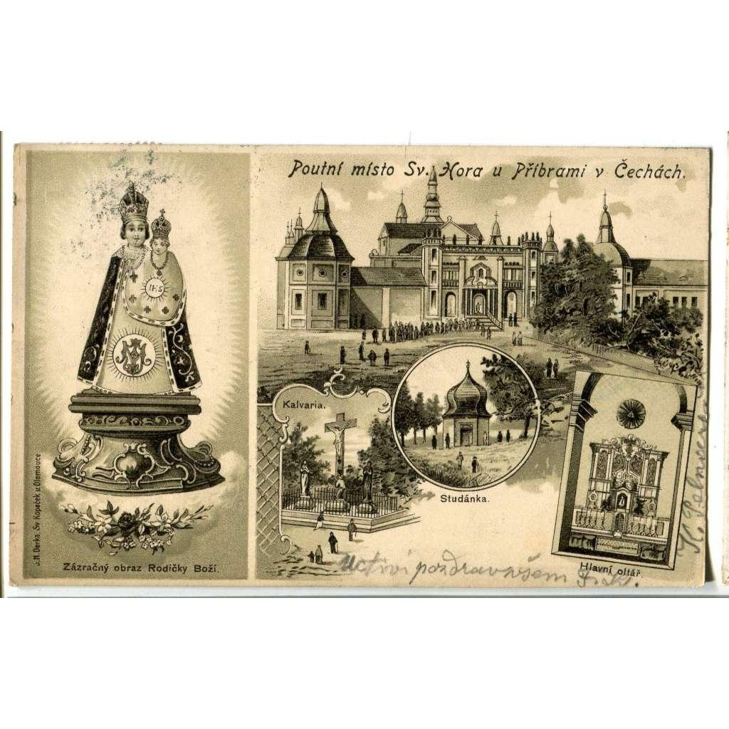 Příbram, Svatá Hora, litografie