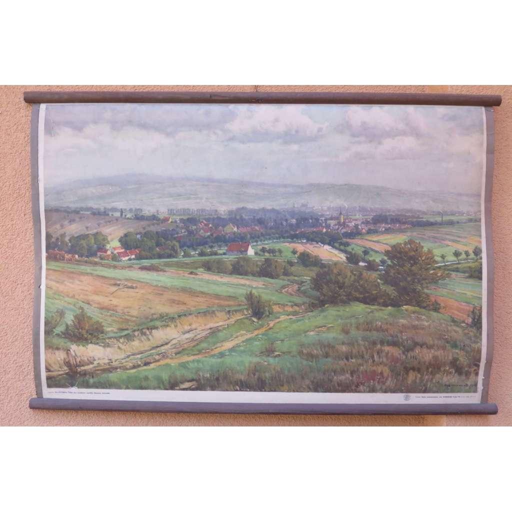 Dědice - rodná obec prezidenta - Klement Gottwald - školní plakát