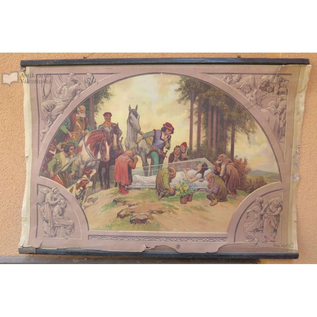 Sněhurka a sedm trpaslíků - školní plakát (pošk.)