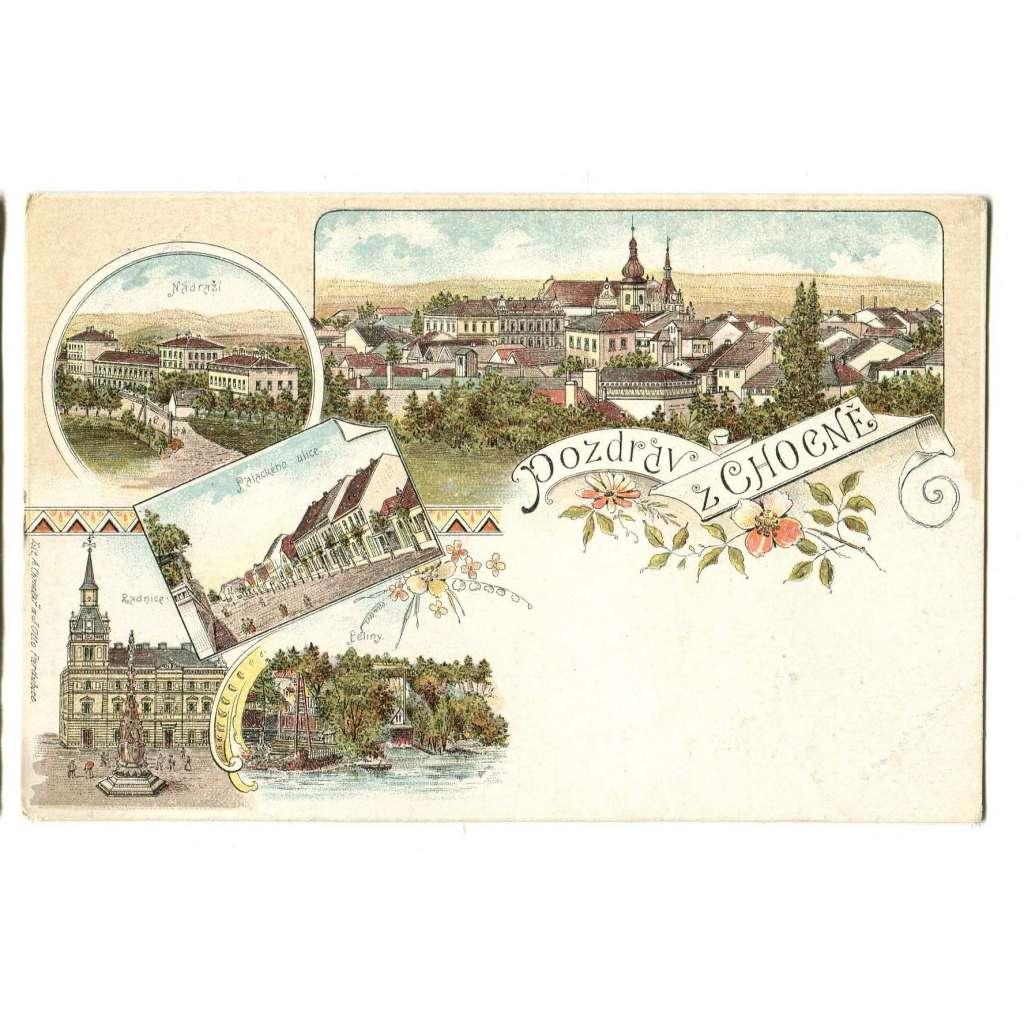 Choceň, Ústí nad Orlicí, litografie.