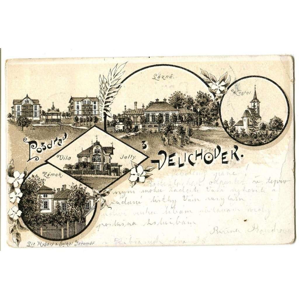Velichovky, Náchod, litografie