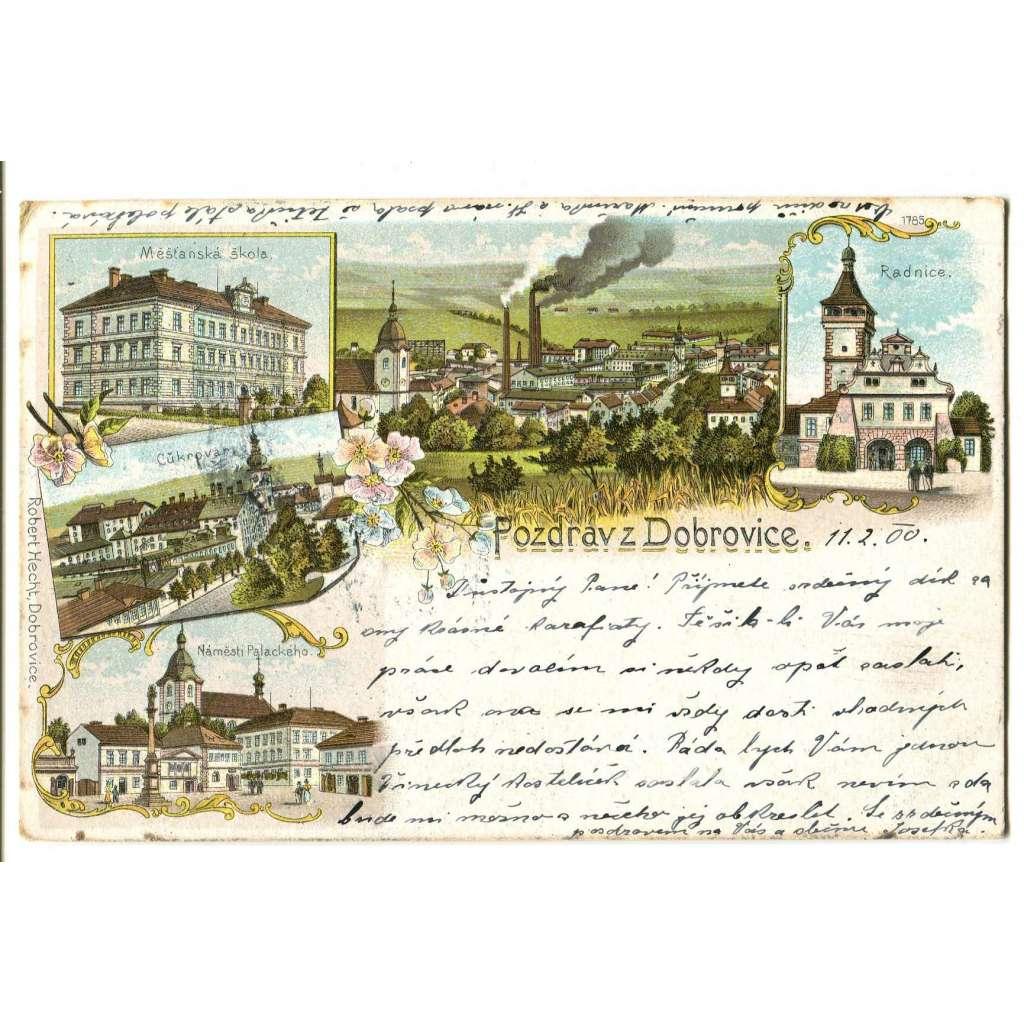 Dobrovice, Mladá Boleslav, litografie