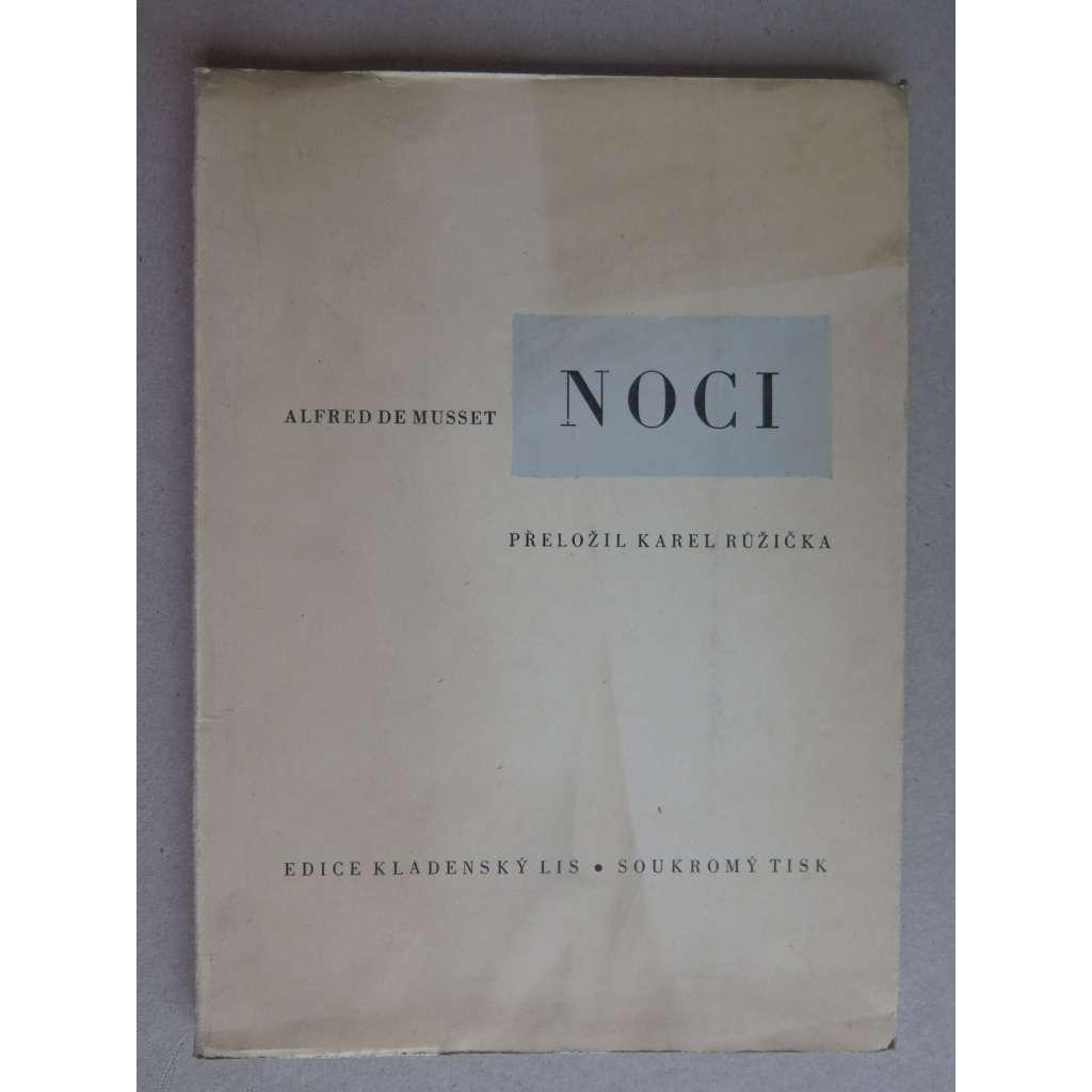 Noci (tiskl Josef Cipra, edice Kladenský lis)