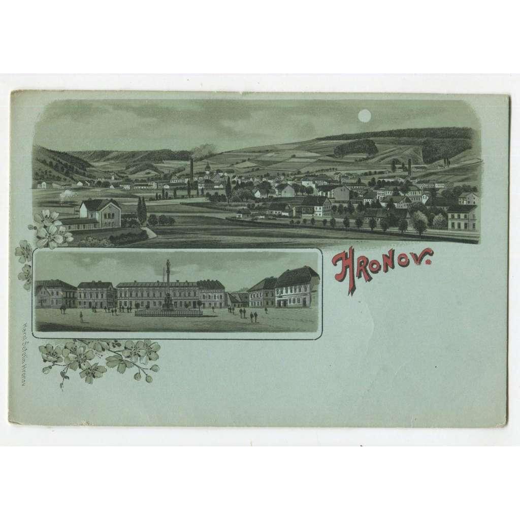 Hronov, Náchod. litografie.