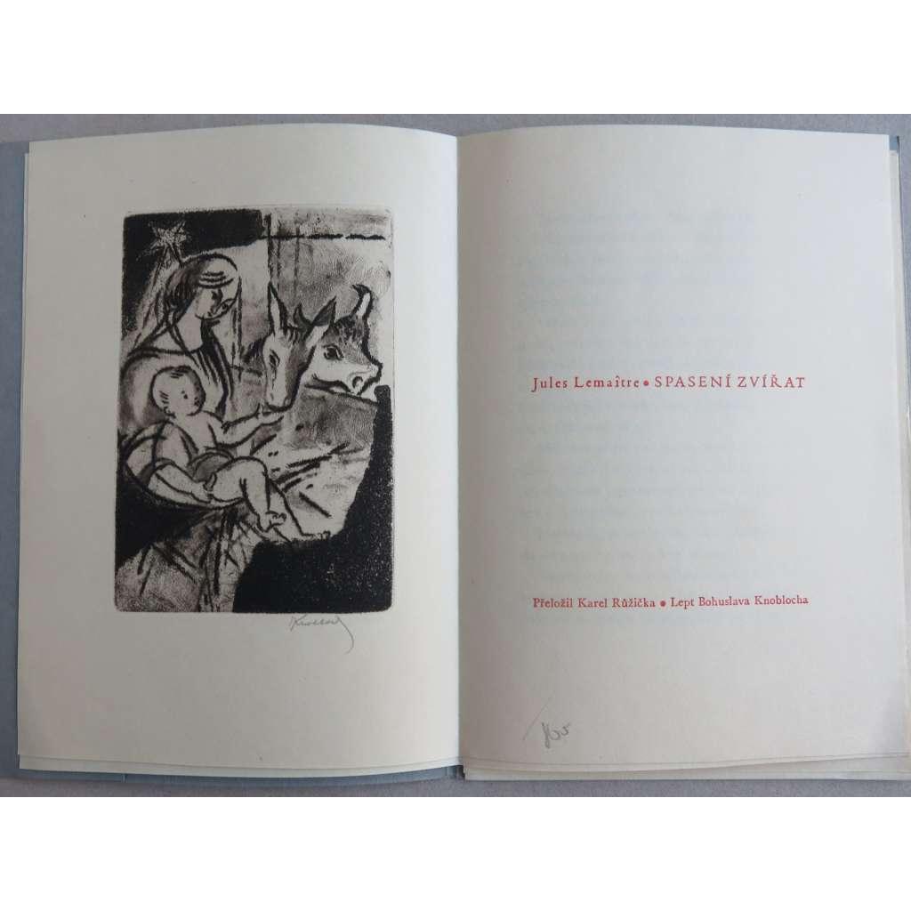 Spasení zvířat (1 lept Bohuslav Knobloch) - Ciprův tisk