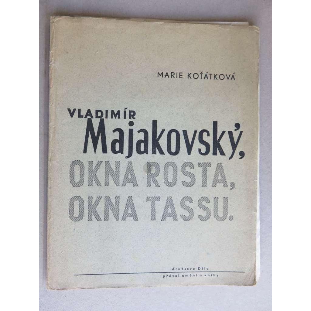 Majakovský  - Okna Rosta - Okna Tassu (obálka Jan Kotík)