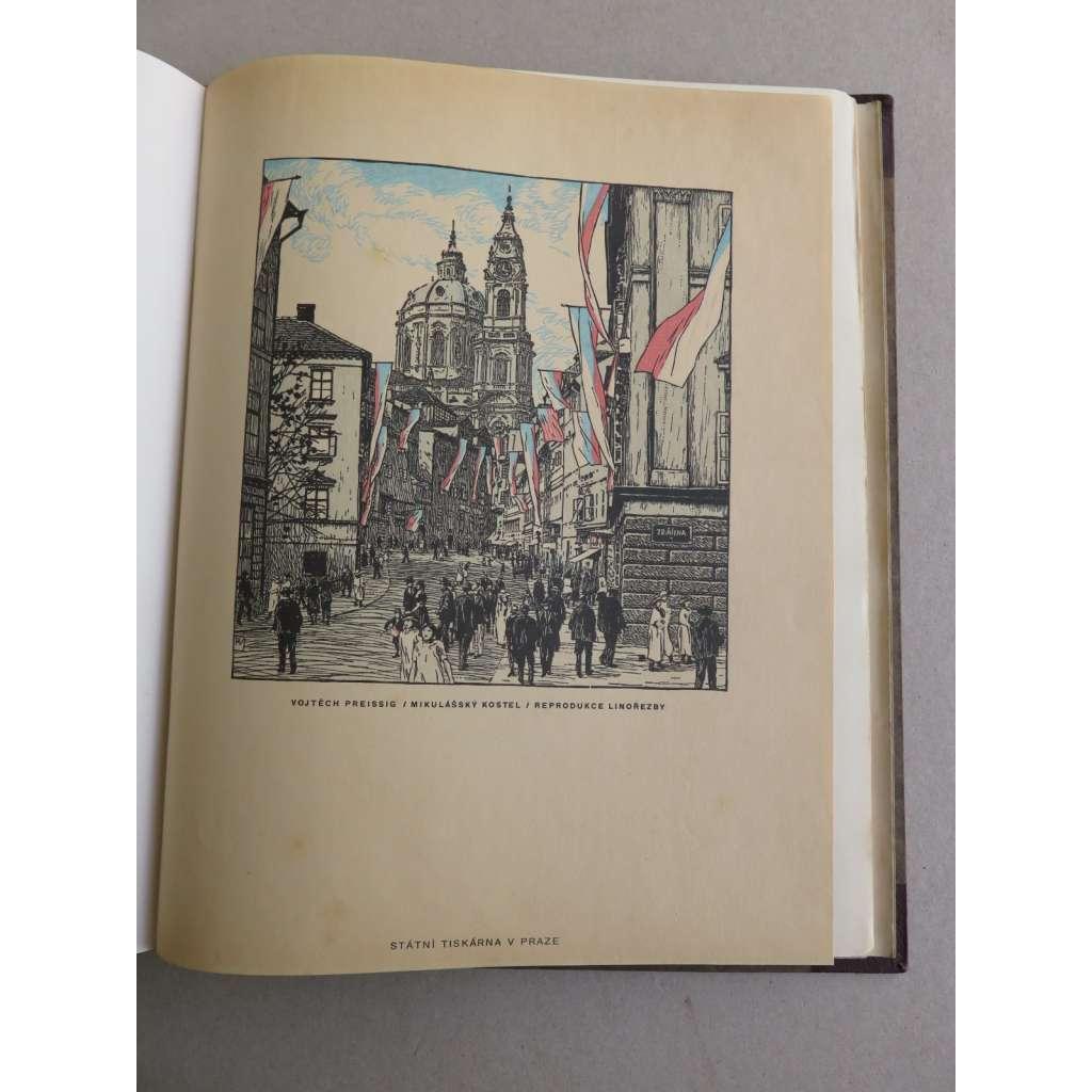 České knižní umění - vyd. Typografia (grafiky Vojtěch Preissig, V.H. Brunner aj.)