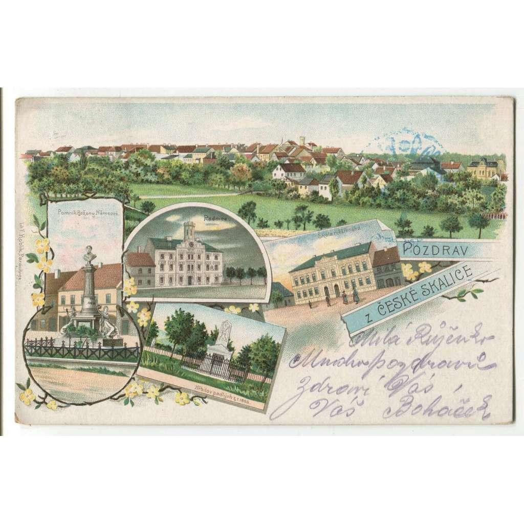 Česká Skalice, Náchod, litografie